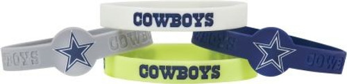 Dallas Cowboys Bracelets 4 Pack Silicone