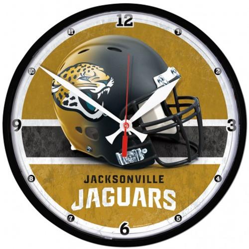 Jacksonville Jaguars Clock Round Wall Style Chrome