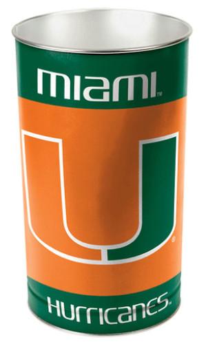 Miami Hurricanes Wastebasket 15 Inch