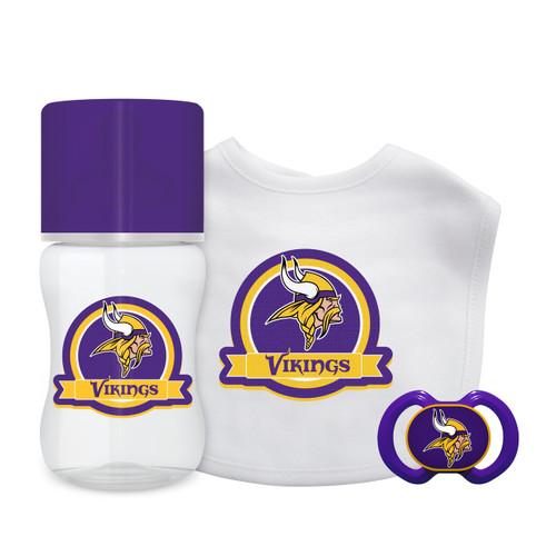 Minnesota Vikings Baby Gift Set 3 Piece