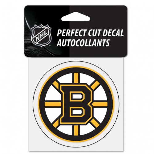 Boston Bruins Decal 4x4 Perfect Cut Color