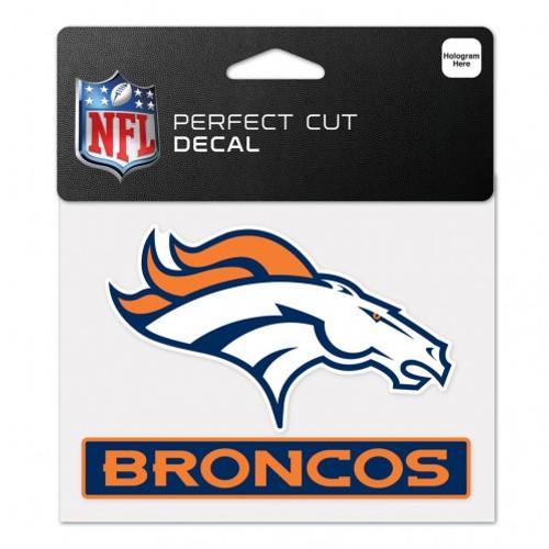 Denver Broncos Decal 4.5x5.75 Perfect Cut Color