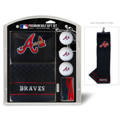Atlanta Braves Golf Gift Set with Embroidered Towel
