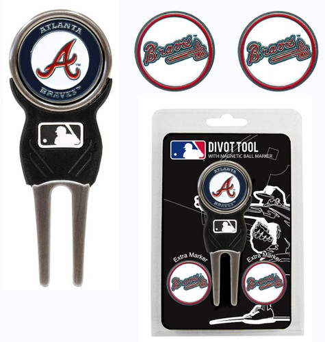 Atlanta Braves Golf Divot Tool with 3 Markers