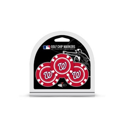 Washington Nationals Golf Chip with Marker 3 Pack