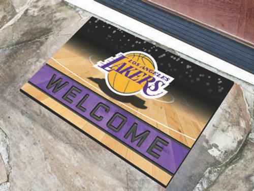 Los Angeles Lakers Door Mat 18x30 Welcome Crumb Rubber