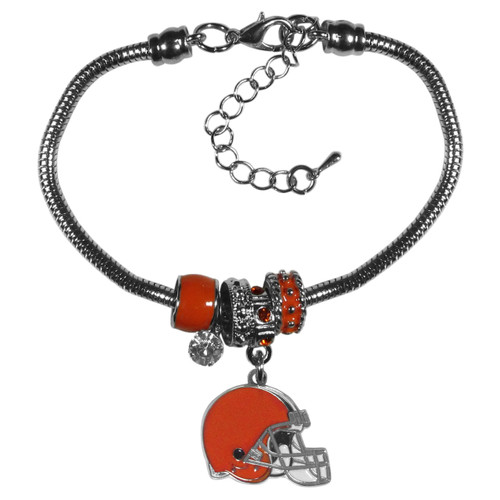 Cleveland Browns Bracelet Euro Bead Style