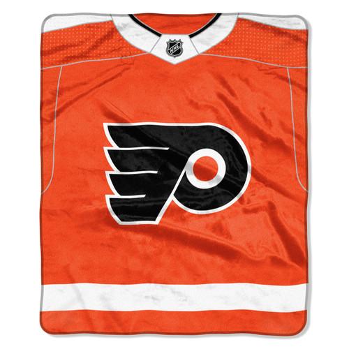 Philadelphia Flyers Blanket 50x60 Raschel New Jersey Design
