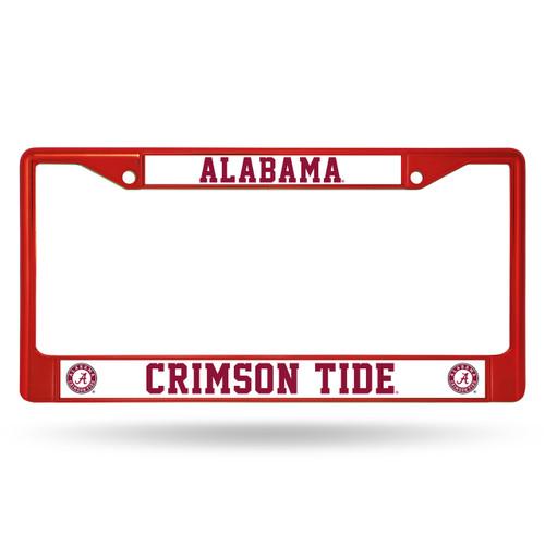 Alabama Crimson Tide License Plate Frame Metal Red