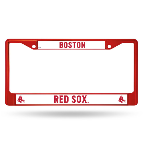 Boston Red Sox License Plate Frame Metal Red