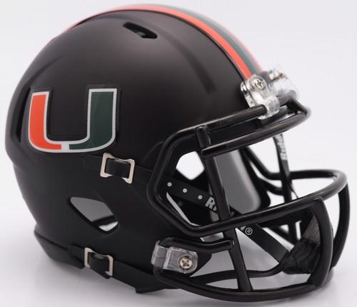 Miami Hurricanes Helmet Riddell Authentic Full Size Speed Style Miami Nights Design