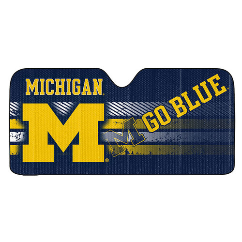 Michigan Wolverines Auto Sun Shade 59x27