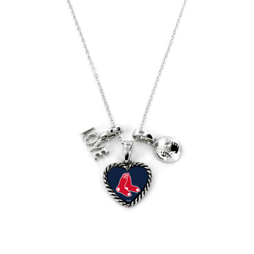 Boston Red Sox Necklace Charmed Sport Love Baseball