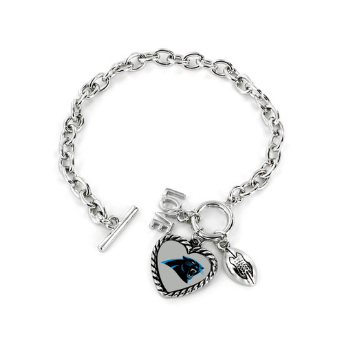 Carolina Panthers Bracelet Charmed Sport Love Football