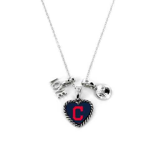 Cleveland Indians Necklace Charmed Sport Love Baseball