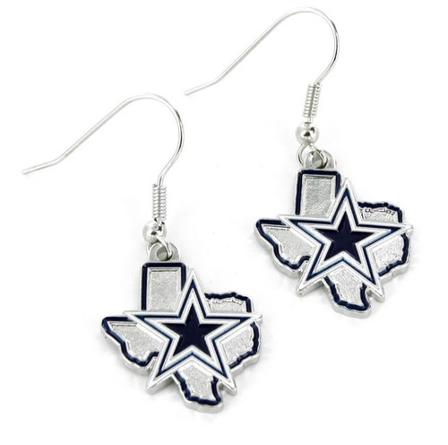 Dallas Cowboys Earrings State Design