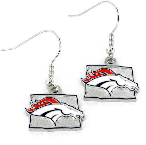Denver Broncos Earrings State Design