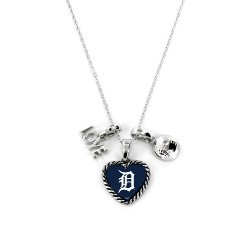 Detroit Tigers Necklace Charmed Sport Love Baseball