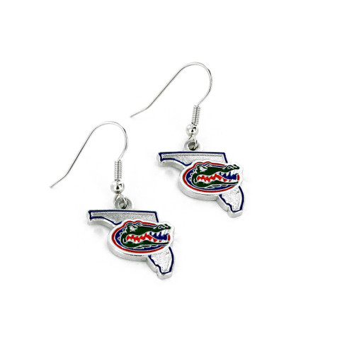 Florida Gators Earrings State Design