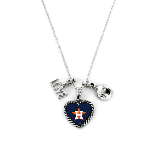 Houston Astros Necklace Charmed Sport Love Baseball