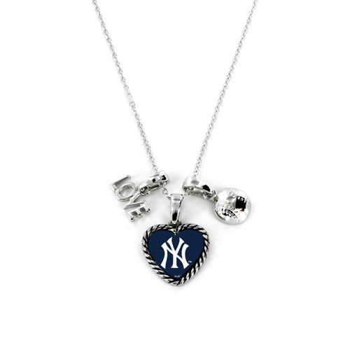 New York Yankees Necklace Charmed Sport Love Baseball