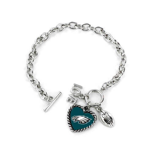 Philadelphia Eagles Bracelet Charmed Sport Love Football