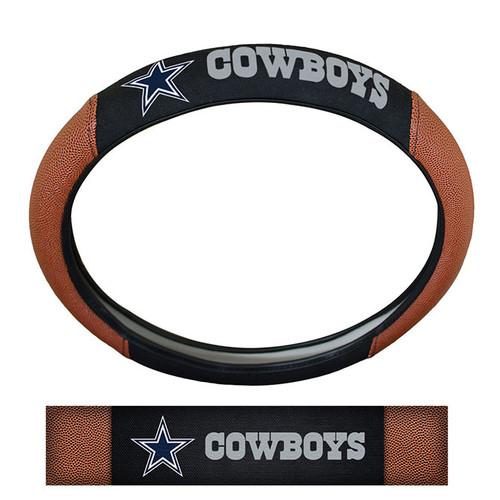 Dallas Cowboys Steering Wheel Cover Premium Pigskin Style