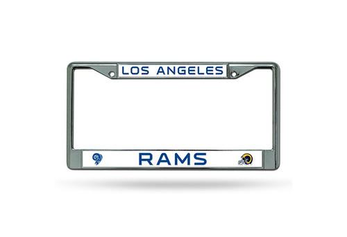 Los Angeles Rams License Plate Frame Chrome Retro Design
