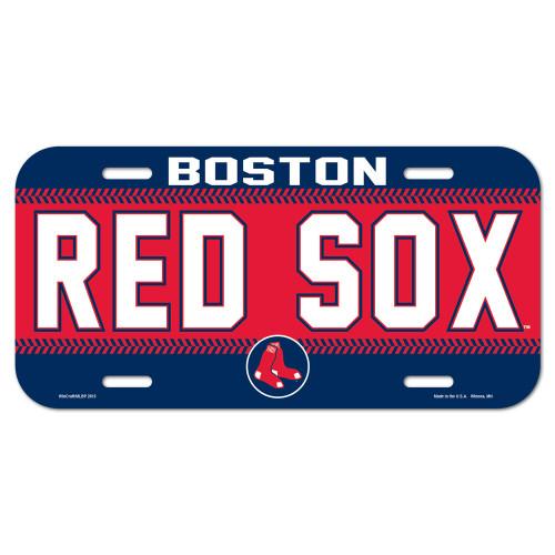Boston Red Sox License Plate Plastic