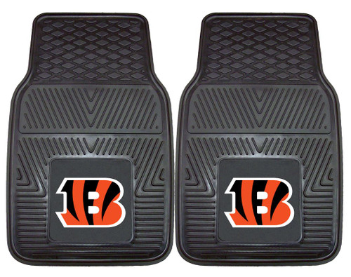 Cincinnati Bengals Car Mats Heavy Duty 2 Piece Vinyl