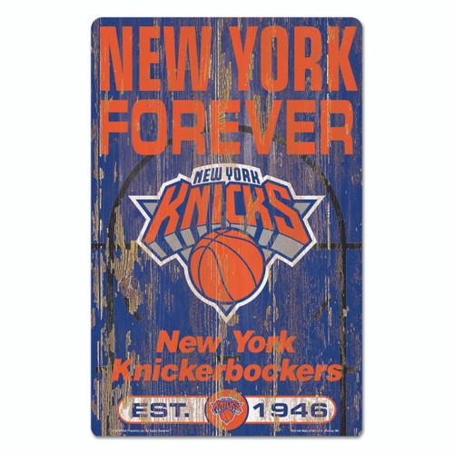 New York Knicks Sign 11x17 Wood Slogan Design