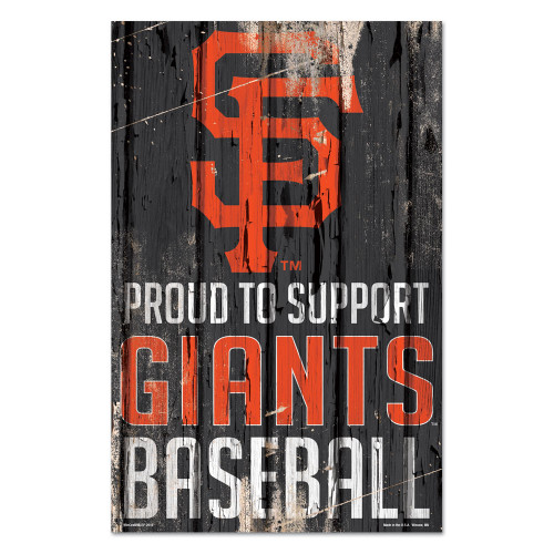 San Francisco Giants Sign 11x17 Wood Proud to Support Design