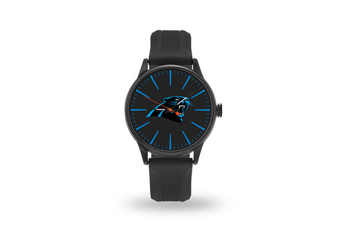 Carolina Panthers Watch Men's Cheer Style with Black Watch Band