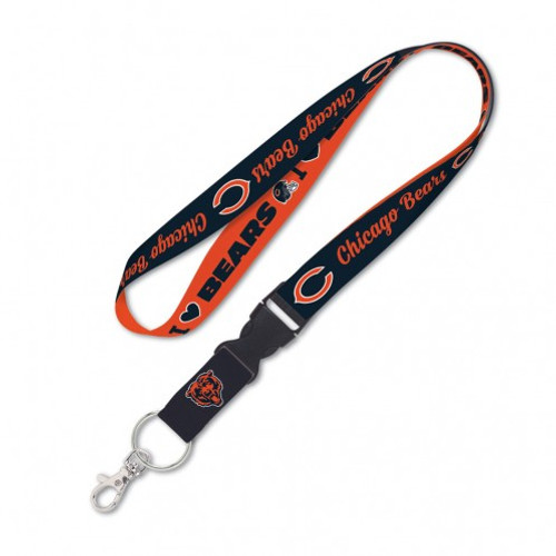 Chicago Bears Lanyard with Detachable Buckle Heart Design