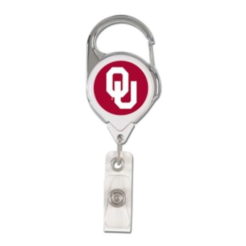 Oklahoma Sooners Retractable Premium Badge Holder