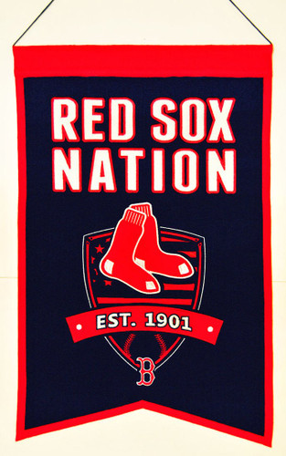 Boston Red Sox Banner 14x22 Wool Nations