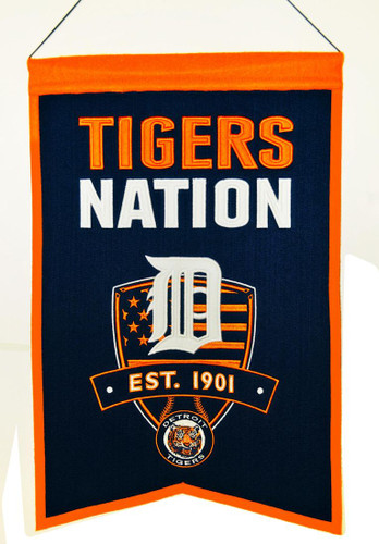 Detroit Tigers Banner 14x22 Wool Nations