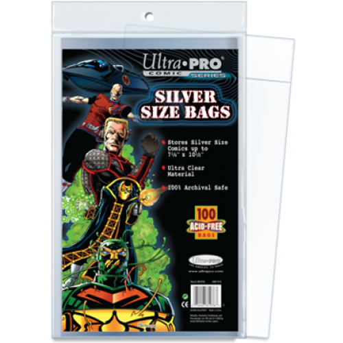 Comic Bags - Silver Size (100 per pack)