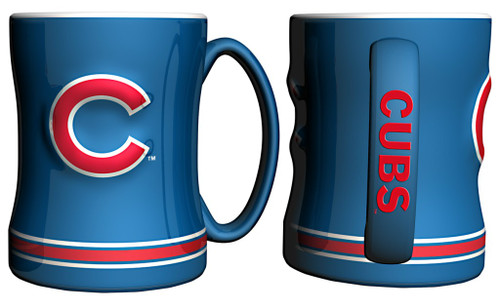 Chicago Cubs Coffee Mug - 14oz Sculpted Relief