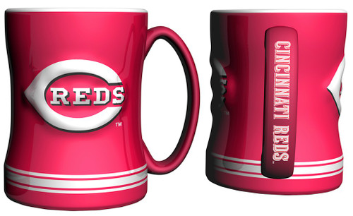Cincinnati Reds Coffee Mug - 14oz Sculpted Relief