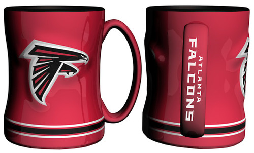 Atlanta Falcons Coffee Mug - 14oz Sculpted Relief