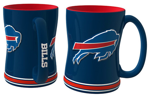 Buffalo Bills Coffee Mug - 14oz Sculpted Relief