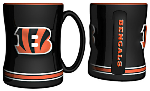 Cincinnati Bengals Coffee Mug - 14oz Sculpted Relief