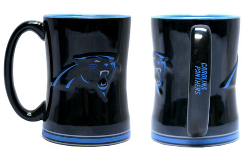 Carolina Panthers Coffee Mug - 14oz Sculpted Relief