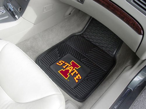 Iowa State Cyclones Heavy Duty 2-Piece Vinyl Car Mats