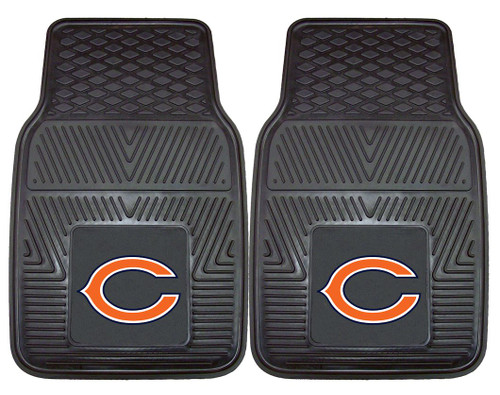 Chicago Bears Car Mats Heavy Duty 2 Piece Vinyl