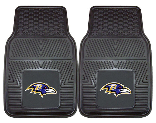 Baltimore Ravens Car Mats Heavy Duty 2 Piece Vinyl