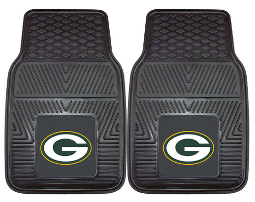 Green Bay Packers Car Mats Heavy Duty 2 Piece Vinyl