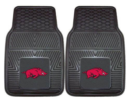 Arkansas Razorbacks Heavy Duty 2-Piece Vinyl Car Mats