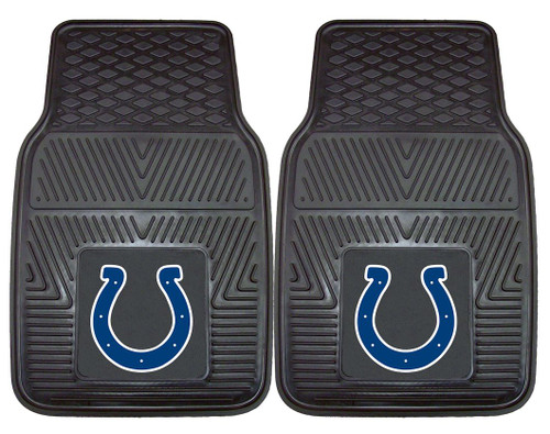 Indianapolis Colts Car Mats Heavy Duty 2 Piece Vinyl